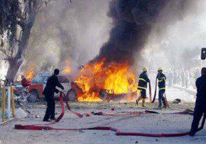 اصابة اربعة مدنيين بانفجار مفخخة في بغداد