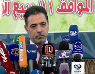 الداخلية الغبان في مؤتمر صحفي