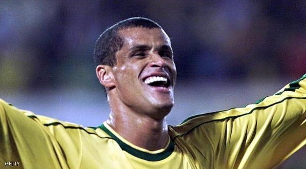 ASUNCI=N, PARAGUAY:  Brazil's Rivaldo celebrates his second goal against Uruguay 18 July 1999 during the Copa America final in Asuncion.  (ELECTRONIC IMAGE)     AFP PHOTO/Norberto DUARTE (Photo credit should read NORBERTO DUARTE/AFP/Getty Images)