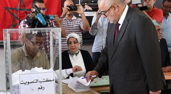 Prime Minister and Secretary General of the Islamist Justice and Development Party (PJD), Abdelilah Benkirane, casts his vote in the local elections at a polling station in the centre of the Moroccan capital Rabat on September 4, 2015. Some 15 million Moroccans are heading to the polls for the local elections seen as a gauge of the popularity of the government of Benkirane a year ahead of a general election. AFP PHOTO / FADEL SENNA        (Photo credit should read FADEL SENNA/AFP/Getty Images)