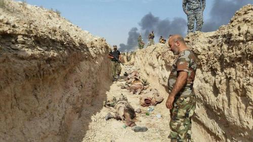 مقتل واصابة 36 وأسر 100 داعشيا شمالي بيجي