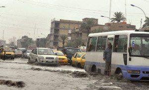 العراق يتأثر غداً بمنخفض جوي يتسبب بامطار غزيرة