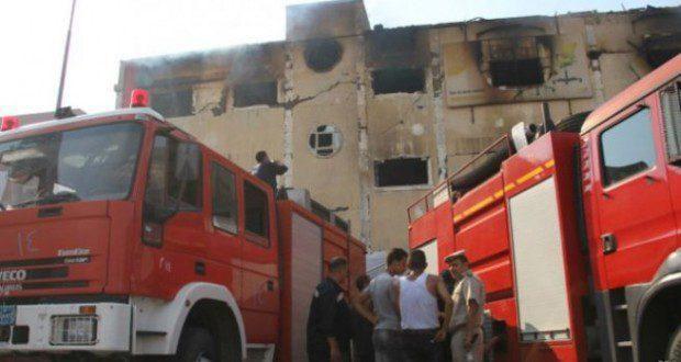 الداخلية تصدر توضيحا عن حريق اندلع في مبناها وسببه