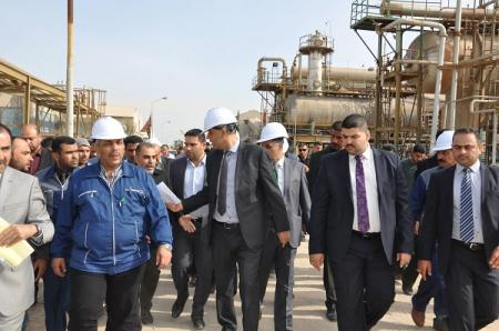 افتتاح مشروع انتاج النتروجين في البصرة