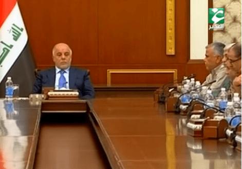 مداخلة السيد هادي العامري خلال لقاء رئيس الوزراء حيدر العبادي
