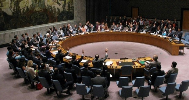 The United Nations Security Council meets to discuss the situation in Syria July 14, 2014 at the United Nations in New York. The Security Council voted unanimously for a Syria aid access resolution. AFP PHOTO/Don Emmert