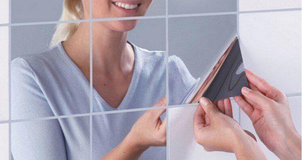 مجانا كل يد مرآة عاكسة مثل diy ملصقات ملصقات الحائط الزخرفية الملصقات المرآة 15cmx15cm 6inx6in