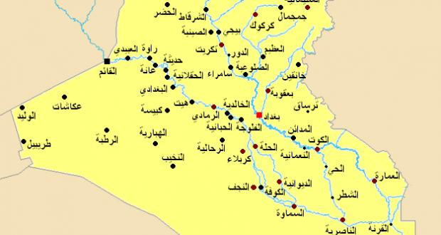 خريطه-العراق
