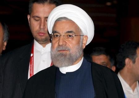 الرئيس الإيراني حسن روحاني في جاكرتا يوم 23 أبريل نيسان 2015. صورة لرويترز من ممثل لوكالات الأنباء