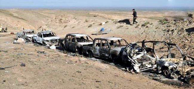 تدمر رتل لداعش على طريق سامراء- صورة ارشيفية