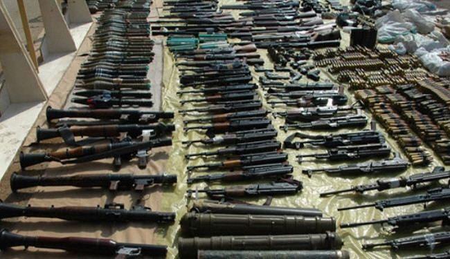 العثور على مخابئ للاسلحة في الرمادي
