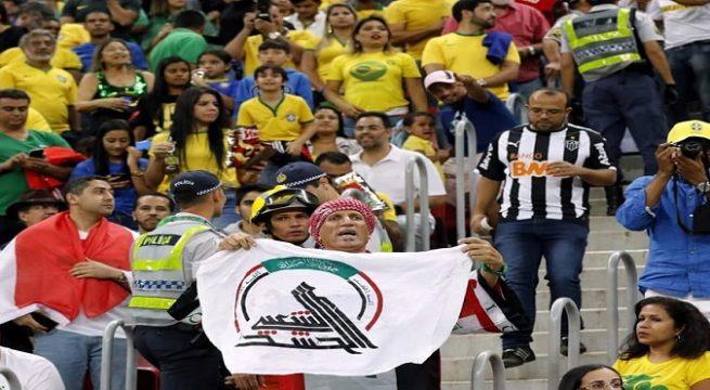 """""""الحشد الشعبي"""" يُكرم مشجعا رفع رايته في أولمبياد ريو"""