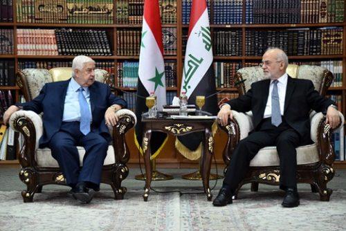 المعلم للجعفري: نقف مع العراق في خندق واحد