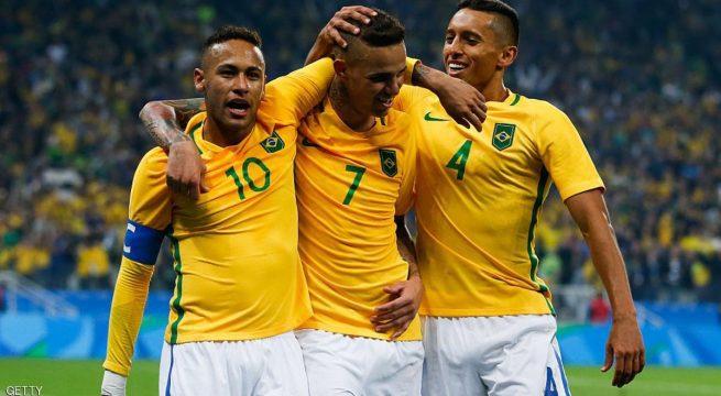 المنتخب البرازيلي إلى الدور نصف النهائي من مسابقة كرة القدم للرجال في أولمبياد ريو 2016