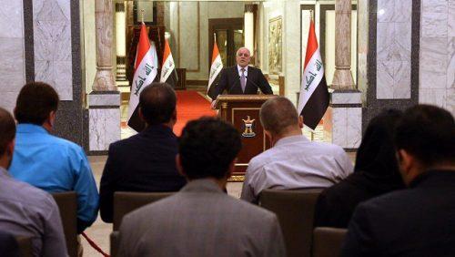 رئيس الوزراء حيدر العبادي :  يعلن في مؤتمر زيادة تخصيصات هيأة الحشد الشعبي في موازنة 2017