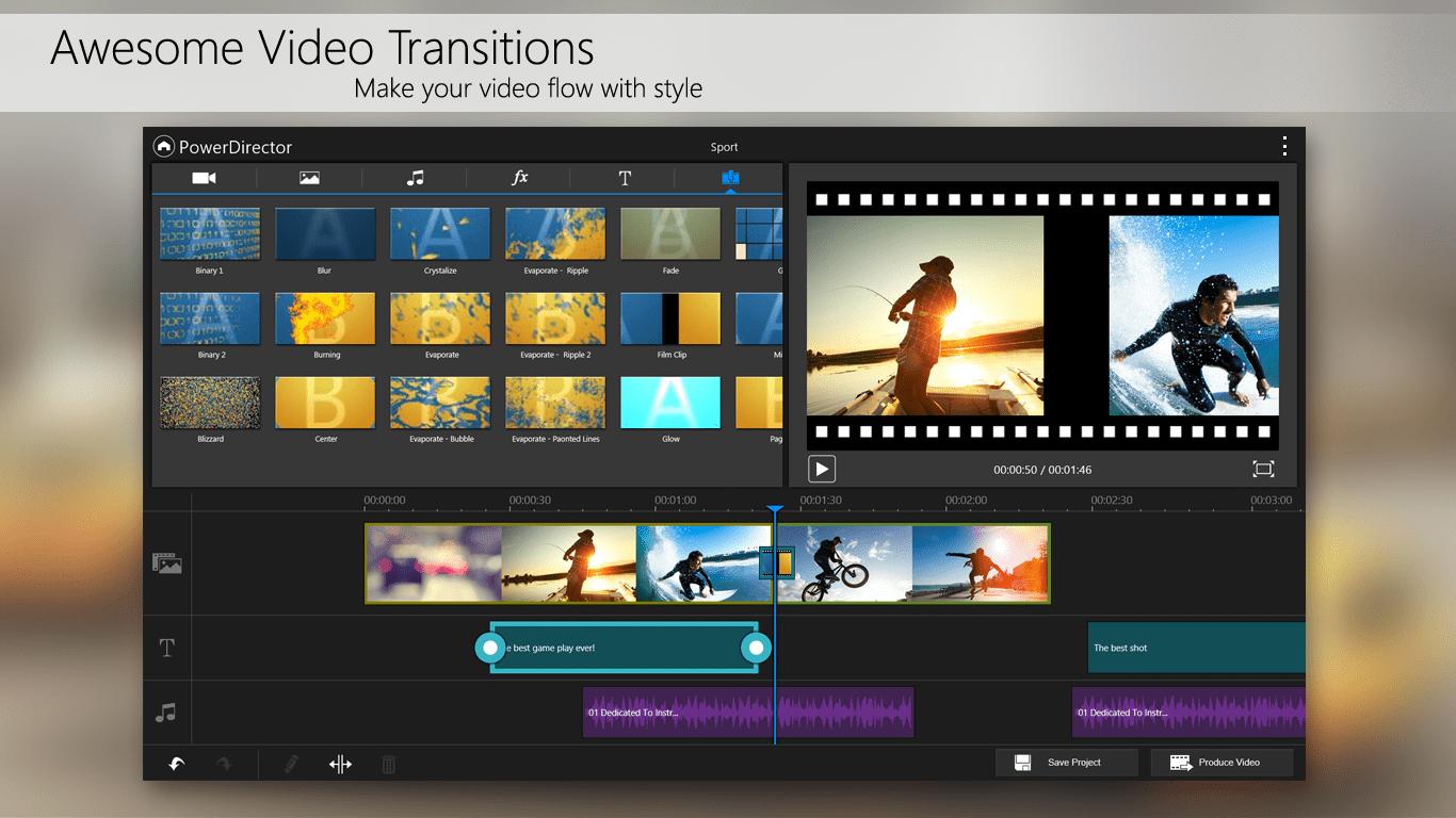 محرر الفيديو الإحترافي PowerDirector على أندرويد