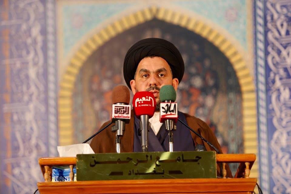 """خطيب جمعة بغداد يعتبر من أهم أسباب تراجع المجتمع العراقي هو """"الجدل السيء"""" لأغلب السياسيين وبعض المواطنين"""