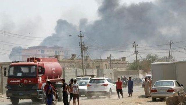 حريق في احد أفواج الشرطة الاتحادية شرقي بغداد