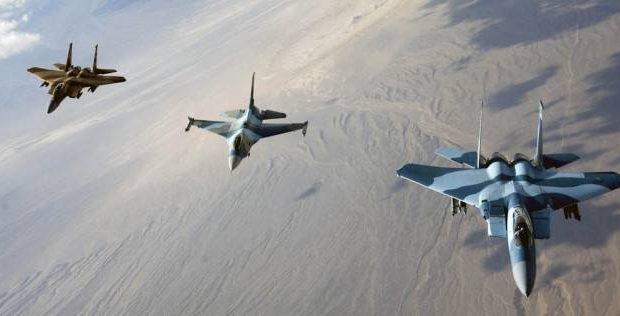 مقتل اكثر من 100 ارهابي بينهم قادة بارزون بقصف لاهداف لداعش في الانبار