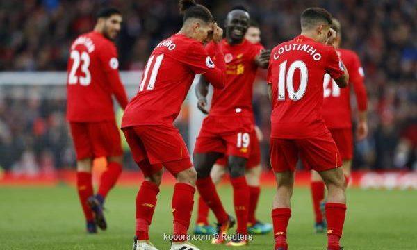 نادي ليفربول يفوز على ضيفه واتفورد بنتيجة 6-1 اليوم الأحد