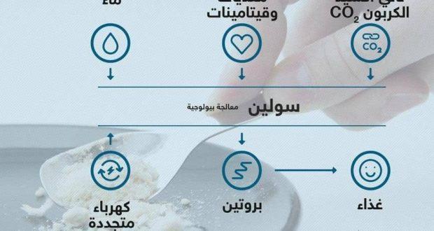 مادة غذائية تشبه القمح من الكهرباء والماء والهواء