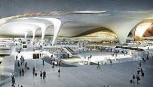 beijingairportمطار بكينالصينزها حديد