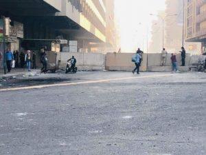 ساحة الخلاني عن التحرير بالكتل الكونكريتية