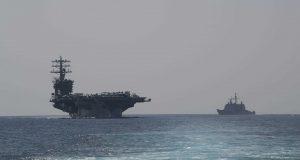 حربي أمريكي يدخل مياه الخليج